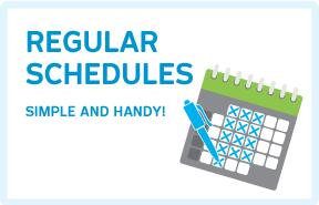 Regular Schedules